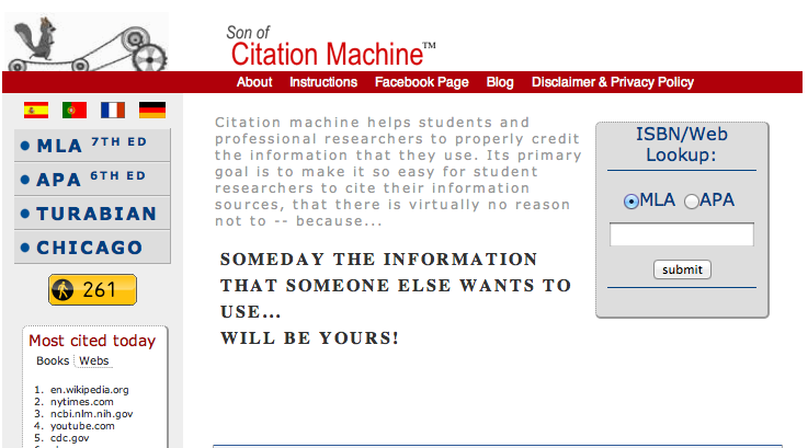 Citation Tool     KnightCite